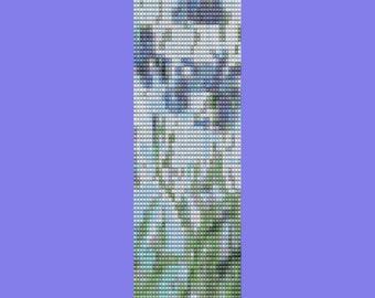 Monet's Iris Bracelet Pattern PEYOTE