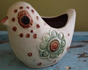 Mod Pottery Bird Planter.