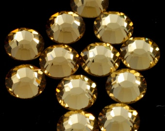 Swarovski 2058 Light Colorado Topaz Flatback Rhinestones