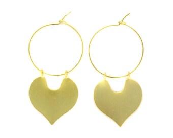 Birdhouse Jewelry - Crescent Hoop Earrings