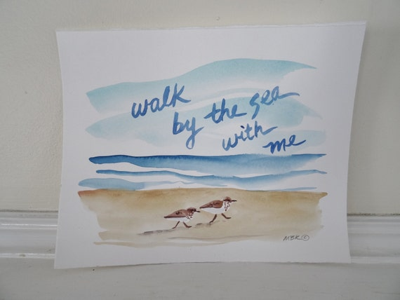 Wedding Gift Paintings: Items Similar To Watercolor Painting, Beach Wedding Gift