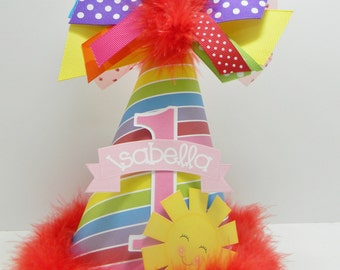 Over the Rainbow Birthday Party Hat