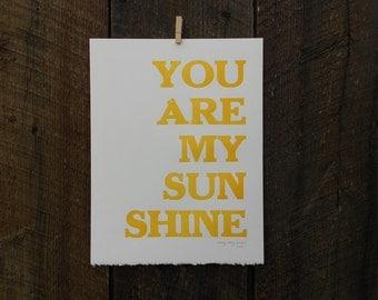 You Are My Sunshine Broadside