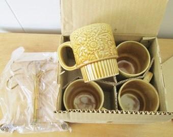 NOS vintage mugs and tree Japan