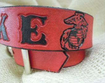 USMC Dog Collar - Leather - Dog Collar - EGA