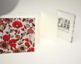 Earthtone Flowers, Small Accordian Book