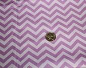 Chevron - David Textiles Fabric - One yard - Purple on purple