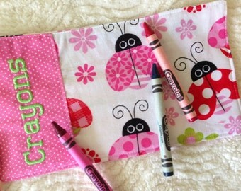 Ladybug Crayon Wrap Personalized Roll Up