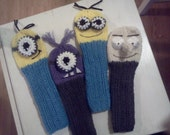 Set of 2  - Hand Knit MINION Inspired GOLF Club Head Cover - CUSTOM made to order
