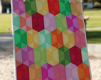 SALE - MINI Disco quilt pattern wall hanging from Jaybird Quilts