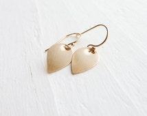 Lotus Petal Earrings - Lightweight Dainty Earring
