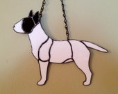 Bull Terrier Stained Glass Suncatcher