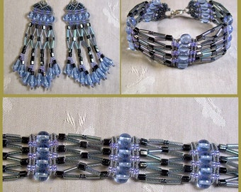 Micro Macrame PATTERN - Lattice Earrings and Bracelet