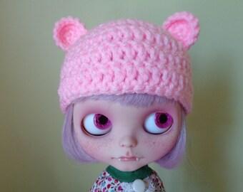 PETAL PINK teddy ears. smaller ears version