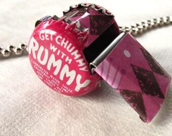 Whistle Children Toy Pink Bottle Cap