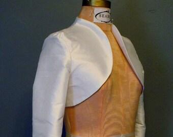 Sample SALE 3/4 Sleeve Classic Silk Bolero