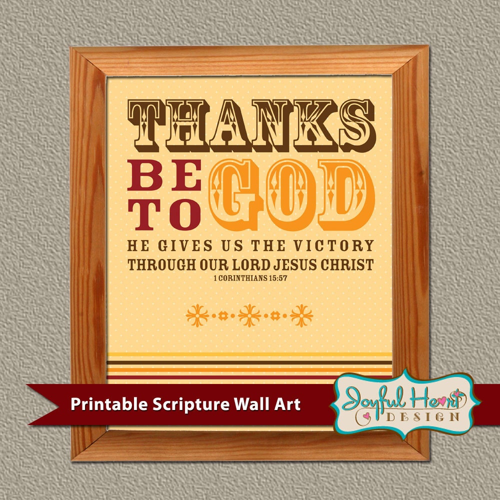 printable thanksgiving wall art bible verse decor by jodittdesigns. Black Bedroom Furniture Sets. Home Design Ideas