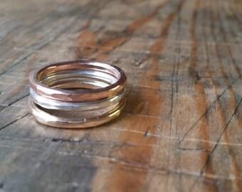 Tri-metal rings