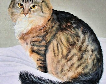 Custom 5x7 Pet Painting of Your Dog Cat or Horse Any Animal