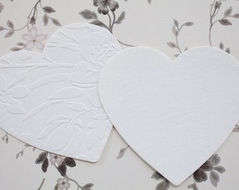 Heart Die Cuts, Set of 30 Watercolor Paper Hearts, Paper Embellishment, Valentine Embellishment, Heart Tags, Scrapbook Card Making Supply