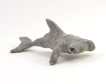 Vintage Style Spun Cotton Hammerhead Shark Ornament/Figure