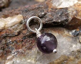 Small Amethyst Charm  - February Birthstone Charm