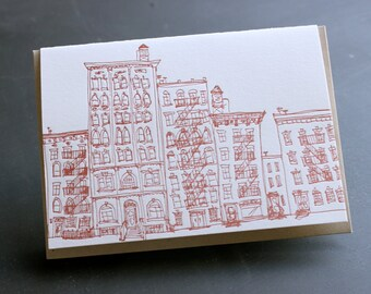 NYC - eight letterpress note cards