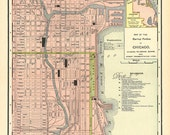 Old Map of Chicago from 1901, digital image no.  668