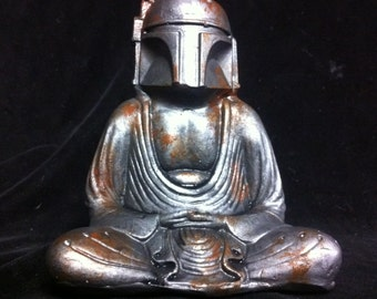 Rusted Metallic Buddha Fett  Custom Boba Fett  Buddha  original  Sculpt and cast