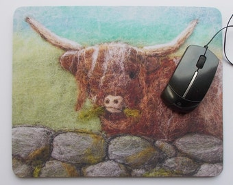 Mousepad, Mouse mat Highland Cow