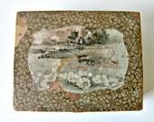 Antique Wooden Stamp Set - antique box - antique typeset - Round Mound - ampersand - antique ink tin - vintage type - star - art deco