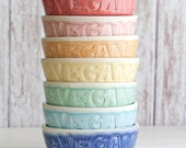 Vegan Dish - Cereal Bowls - BOLD - MADE to ORDER