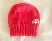 Coral beanie - teen to adult size