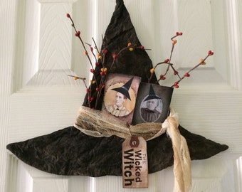 Primitive Halloween Witch Hat