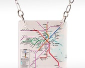Boston Transit Necklace, MBTA Necklace, MBTA map, boston necklace, boston jewelry, boston subway