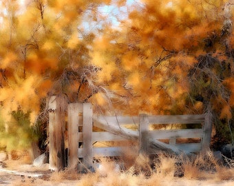 Autumn Rustic Gate Photography Desert Sagebrush Instant Download  Digital Download Commercial Use Digital Graphics