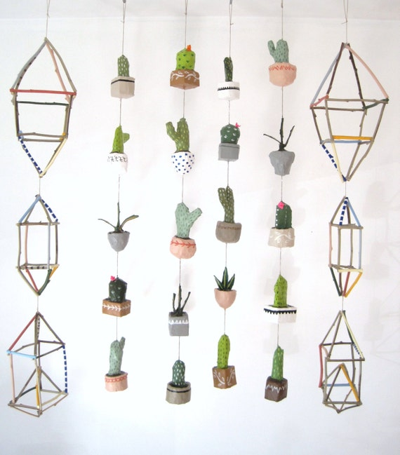 Potted Cacti Mini Mobile   No Water Necessaire