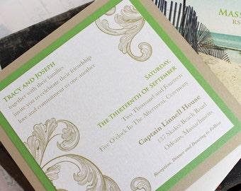 Vintage Flourish Wedding Invitation - Design Fee