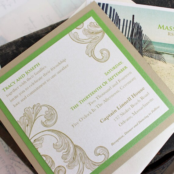 Vintage Flourish Wedding Invitation - Design Fee