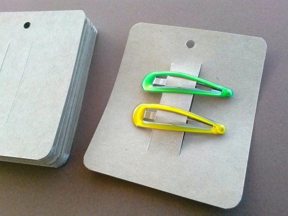 30 Hair Clip Cards, Jewelry Supply, Clippie Card, Product Tag