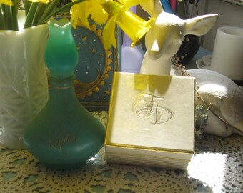 Vintage Avon Rapture Decantor and Frances Denny Unopened Face Powder