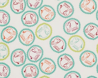 SALE/CLEARANCE Valori Wells, Bridgette Lane, Bouncing Elephants Blueberry Fabric - Half Yard