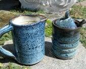 CLEARANCE Creamer and Sugar Set - Rutile Blue