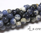 Sodalite 8mm Rounds 16IN Strand