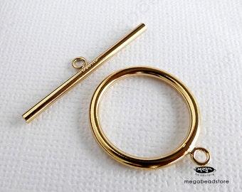 Large 20mm 14K Gold Filled Toggle Set Clasp T131GF- 1 set