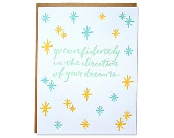 Dreams Letterpress Card