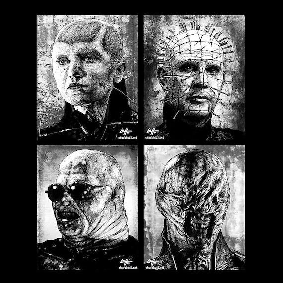 prints 8x10 cenobites hellraiser cenobite horror