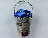 Thimble Bucket  Pin Cushion for Needlework Chatelaine