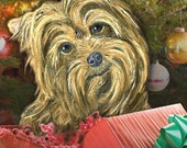 Closing up shop SALE Yorkie Christmas cards - SET OF 8