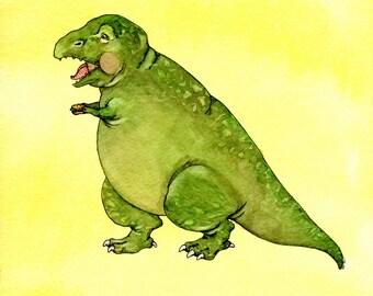 "Big T-rex, Tiny Cheeseburger - 8x10"" Digital Print"